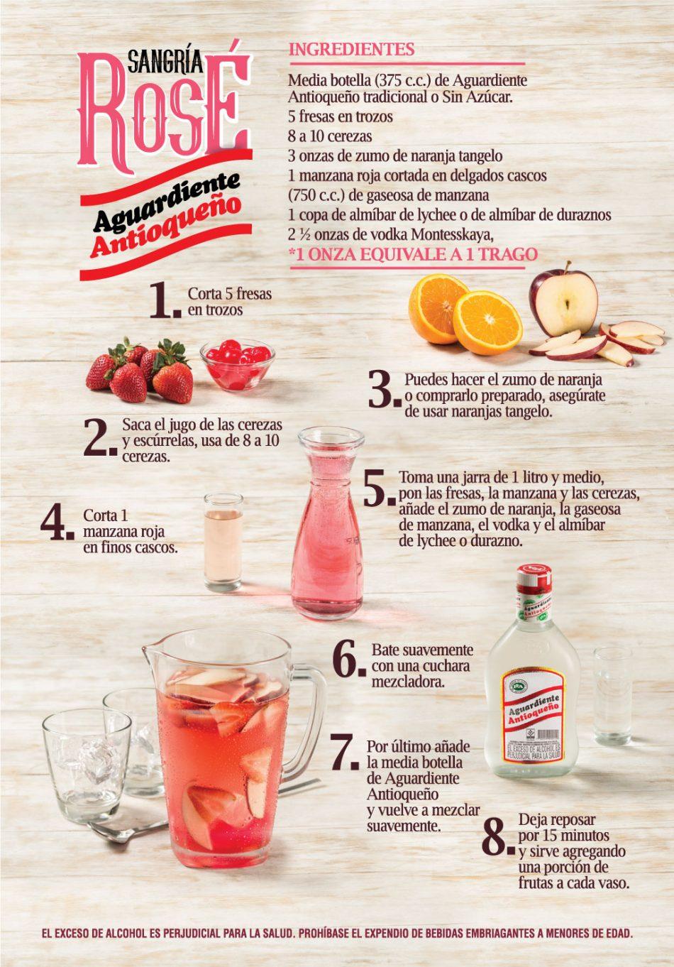 receta sangria rose